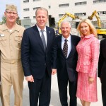 Stacey Gentry Lindsey, Rear Admiral Yancy Lindsey, Mayor Kevin Faulconer, Papa Doug Manchester, Geniya Manchester and Perry Dealy